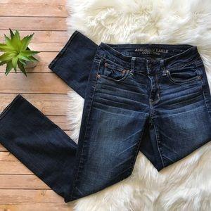 American Eagle Dark Straight Super Stretch Jeans